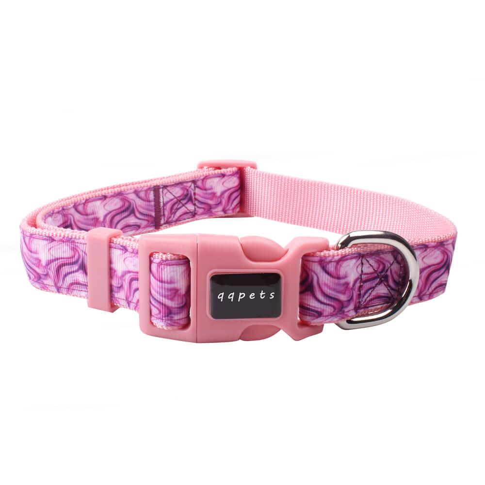 Custom pet collar: Wholesale 2.5 size dog collar on sale nylon ribbon-QQPETS