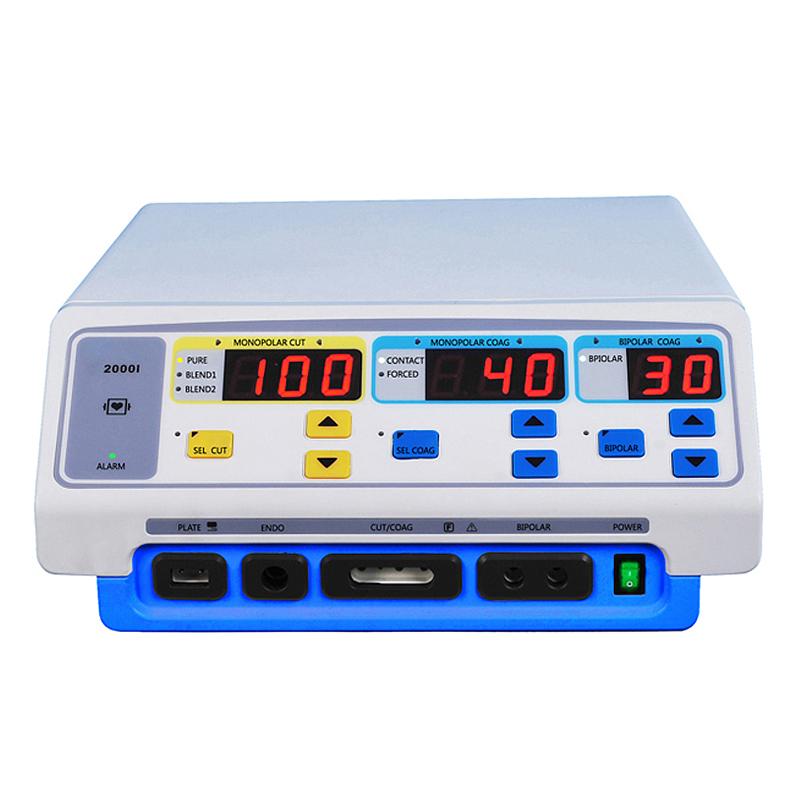 أدوات الجراحة الكهربائية MCS-ESU02 مع ملقط ثنائي القطب ومولد الجراحة الكهربائية ستة أوضاع 300 واط وحدة الجراحة الكهربائية