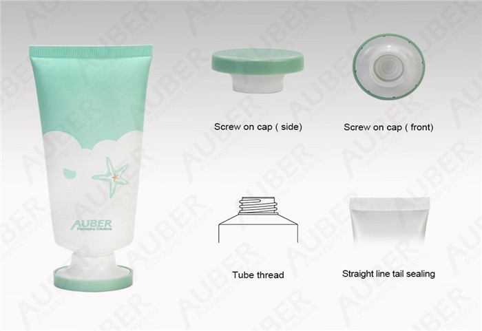 D45mm Plastc Cleanser Tubes With Screw On Cap