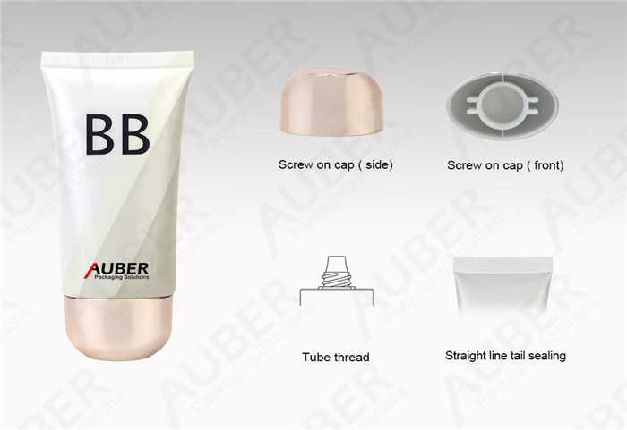 Oval Plastic BB Cream Packaging