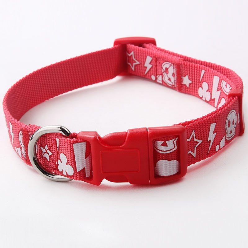 Silk Screen Print Pet Collar: Hot Sale Customized Nylon Pet Collar-QQpets