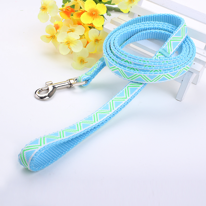 Customized Nylon Dog Leash: High Quality Jacquard Dog Leash-QQpets