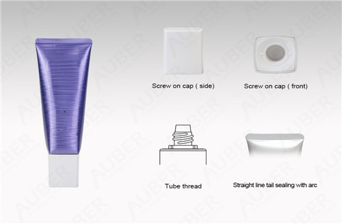 D40mm Square High Glossy Tubes for CBD Products with Square Cap