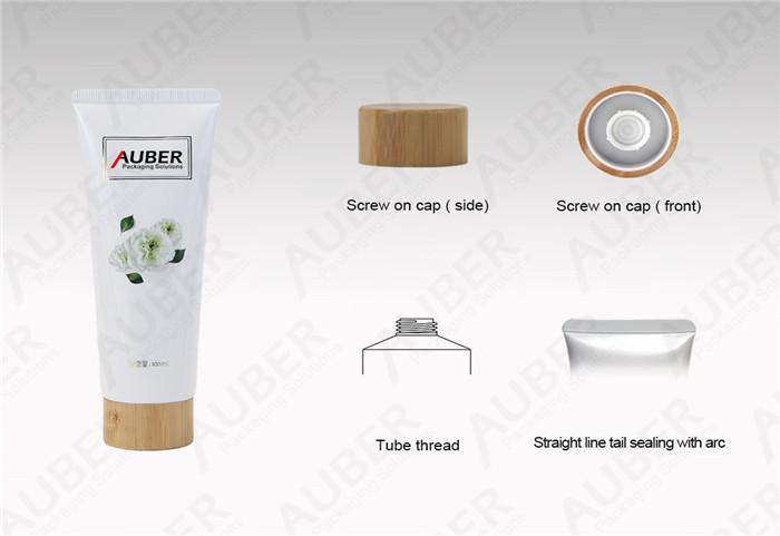 Auber D40mm Gardenia Facial Wash Aluminum Laminated Packaging Tubes with Bamboo Cap