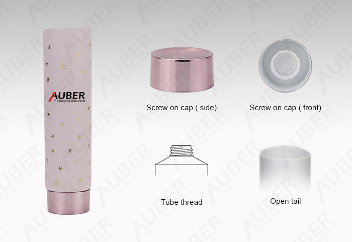 Auber D45mm Fragrant Cream Plastic Tube Packaging with Metalized Screw on Cap