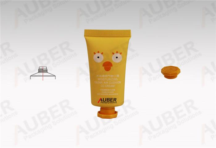 Auber Plastic Tubes Supplier Oval CC Cream Tube in Dia_25mm with Octagonal Cap