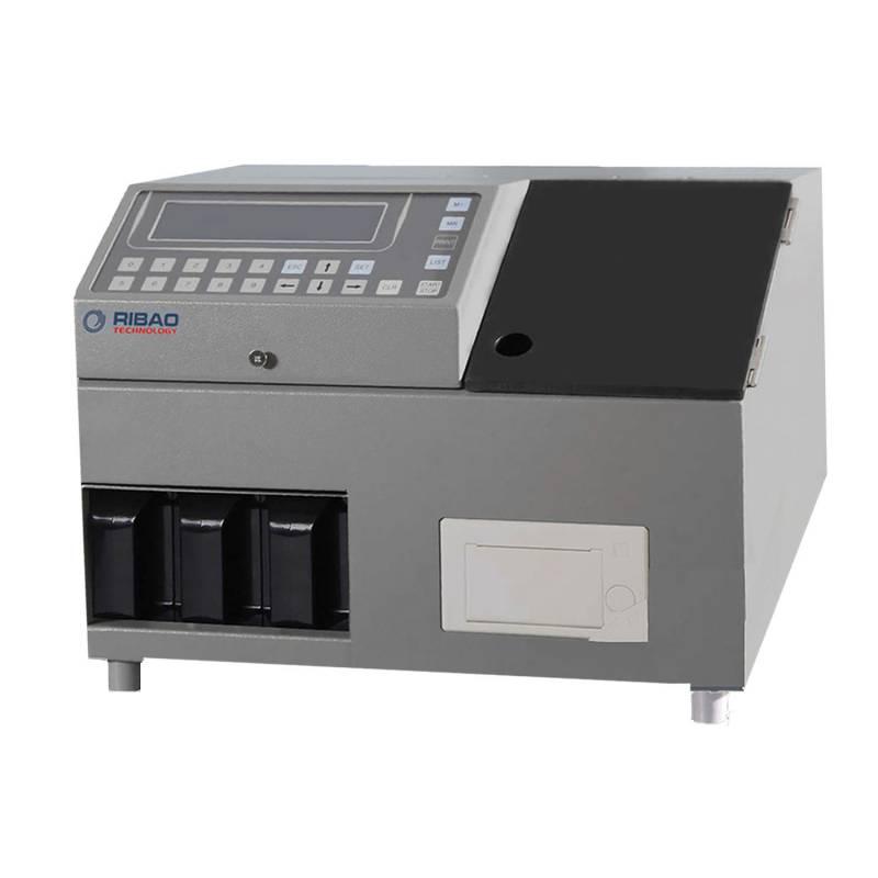 Classificador de moedas pesadas 2 + 1 bolsos falsificam detecção CS-311S