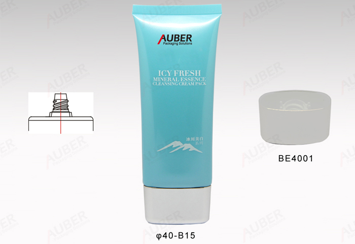 D35mm oval squeezable cosmetic tube for lotion