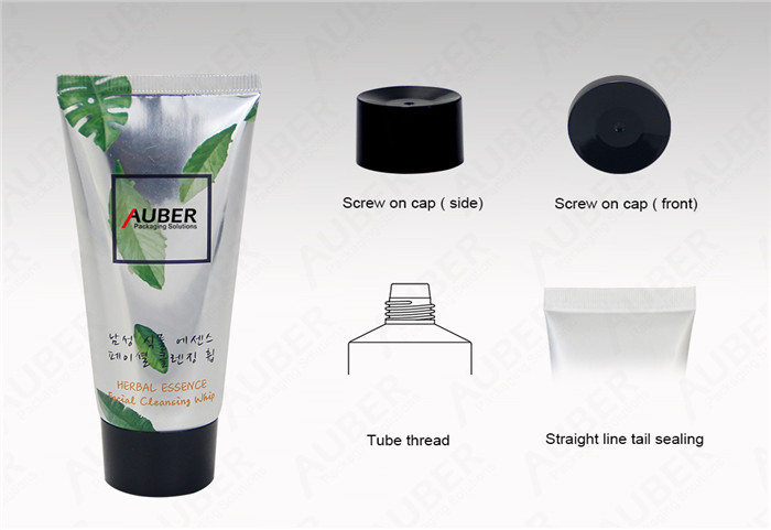 D35mm High Glossy Cleanser Tubes with Black Screw On Cap