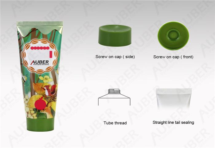 D40mm Cleanser Aluminum Plastic Tube With Green Screw On Cap