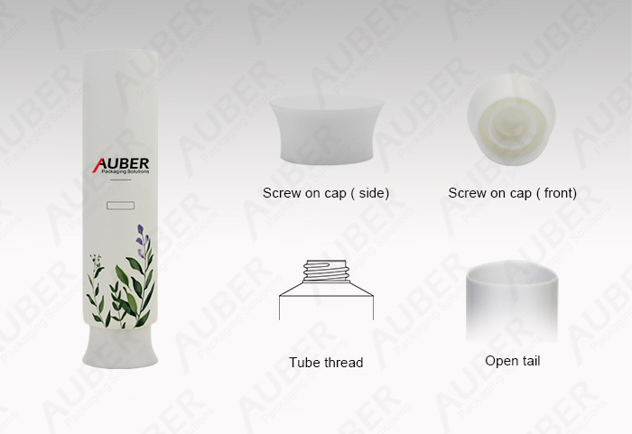 Auber D45mm Round Plastic Tubes for Hair Mask with Screw on Cap