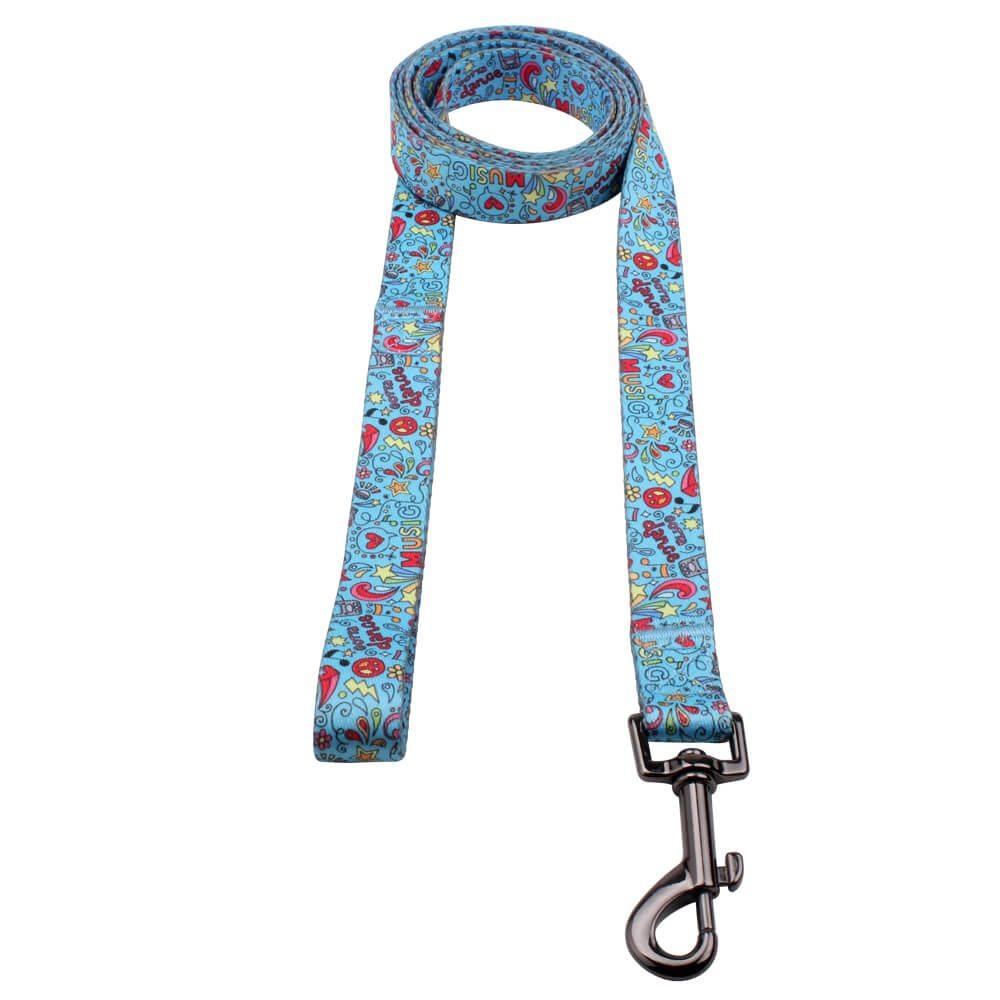 डिजाइन डॉग पट्टा फैक्टरी: फैशन उच्च बनाने की क्रिया मुद्रित कुत्ता पट्टा- QQpets