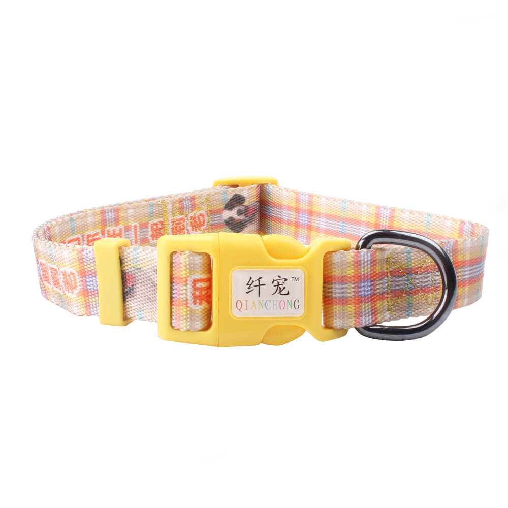 Custom Pet Collars: New Style Dog collars Wholesale With Plastic Buckle-QQpets