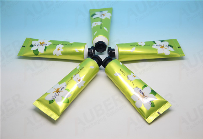 D25mm Shiny Green Metal Squeeze Tubes with Octagonal Caps