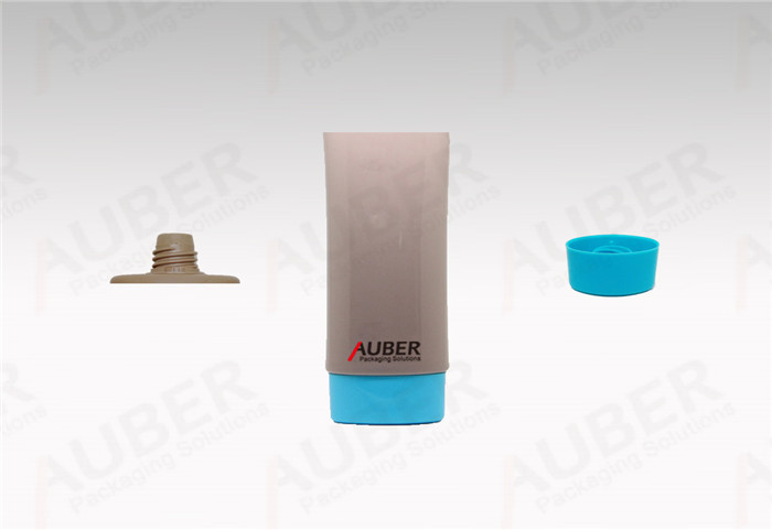 Brown Oval Plastic Tube in Dia 35mm with Screw on Cap for BB cream