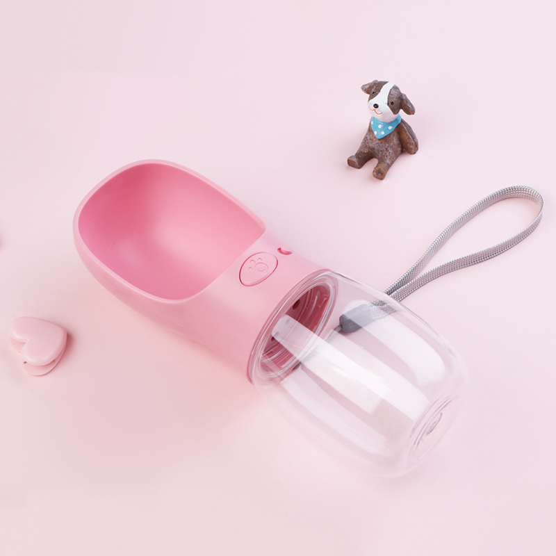 Wholesale 350ml portable dog water bottle