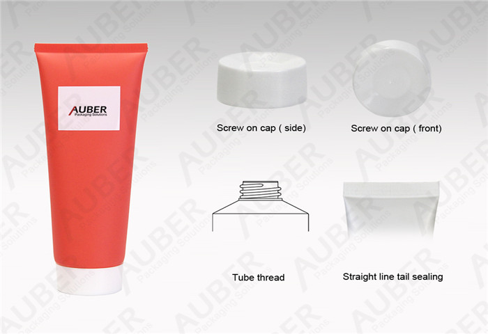 D50mm Orange Cosmetic Tube Factory for Body Cream with Screw on Cap