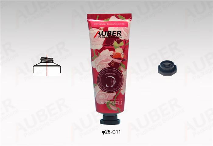 D25mm Rose Metal Cosmetic Tube with Octagonal Cap