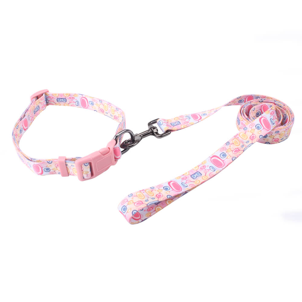 Custom Logo Dog Collars Leash: Wholesale Comfortable Dog Collars Leash-QQpets