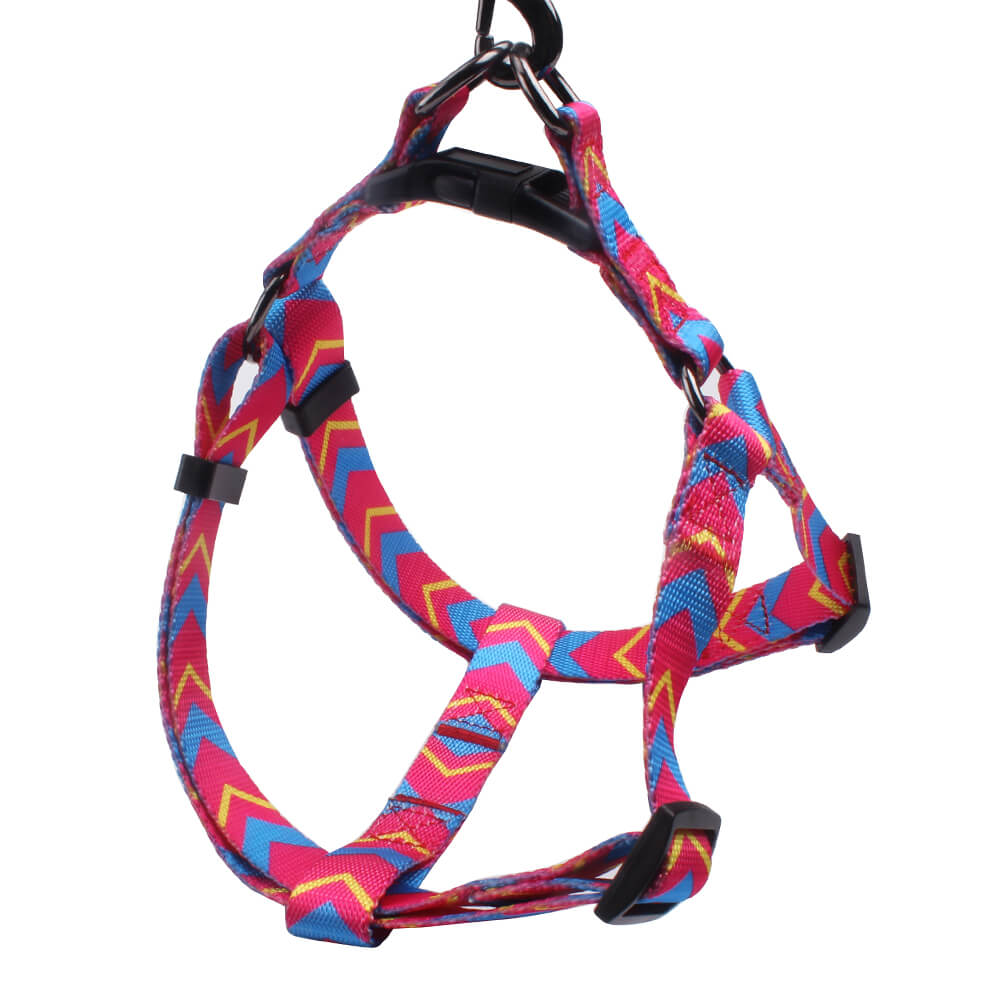 Medium dog harness: Best selling polyester 2.0 size dog harness glossy-QQPETS