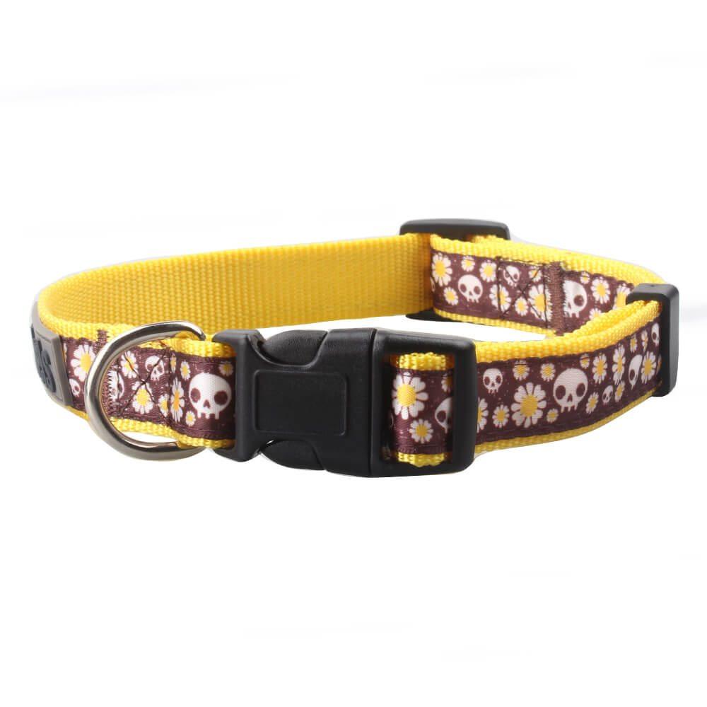 Dog Collars: Wholesale Jacquard Ribbon Dog Collars Supply-QQpets