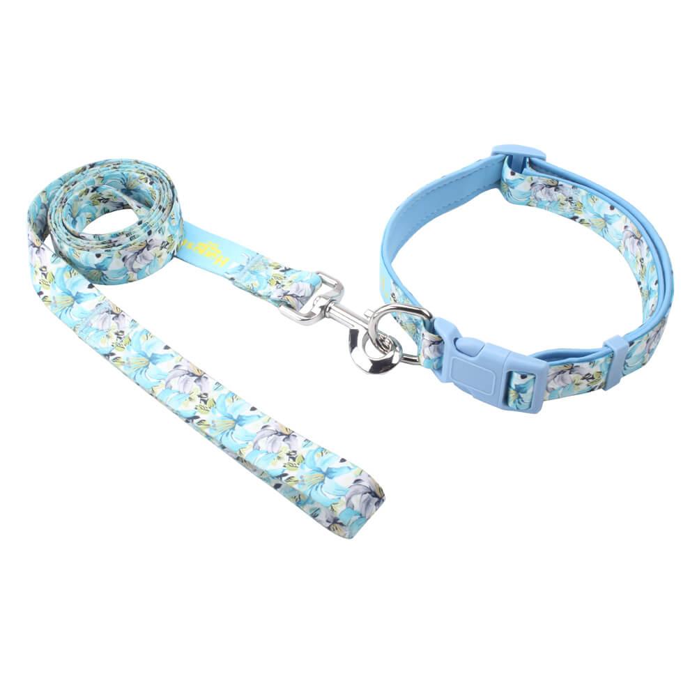 ปลอกคอและสายจูงสำหรับสุนัขพิมพ์: ปลอกคอและสายจูงสำหรับสุนัขโพลีเอสเตอร์แบบกำหนดเองขายส่ง -QQpets