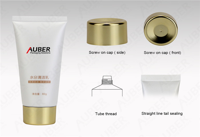D40mm Squeeze Tubes for Lotion with Metalized Screw On Cap