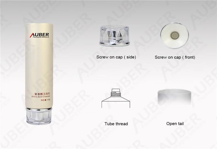 D40mm Pearl Color Cleanser Packaging Fatory with Acrylic Screw On Cap