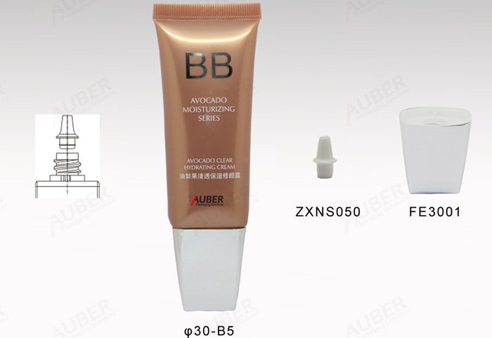 D30mm 50ml Oval tube with plug in head