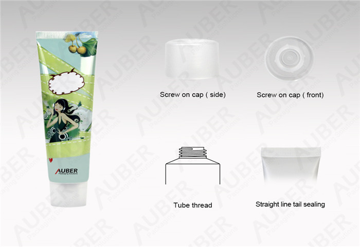 D30mm High Glossy Squeeze Tube Packaging With Screw On Cap