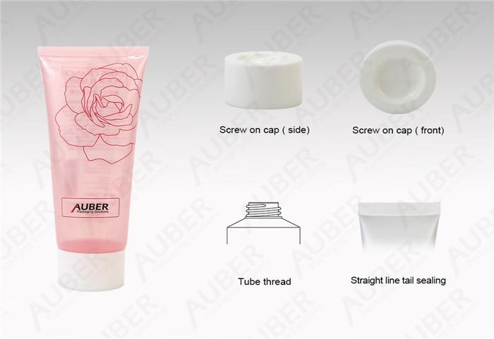 Semi-Clear Pink Cosmetics Tubes