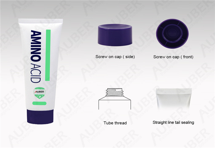 Auber D40mm Customized Cleansing Packaging Manufacturer with Purple Screw On Cap