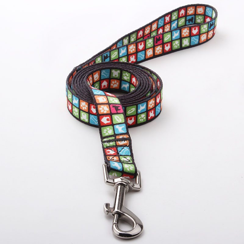 Custom Dog Leash Factory: Top Quality Sublimation Print Dog Leash-QQpets