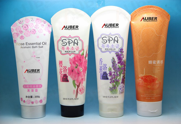 Skin Care Plastic tubes with Special Sealing Tail for Shower Gel