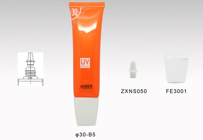 45ml Oval Tube Packaing For Sun Block Cream