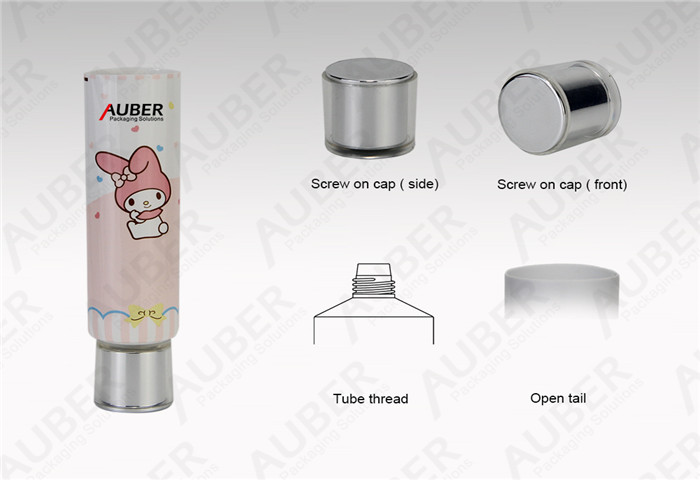 D30mm Plastic Laminated Squeeze Tube Packaging Suppliers with Acrylic Screw on Cap