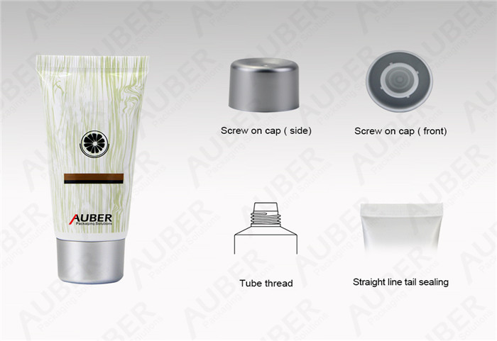 D30mm Hand Sanitizer Packaging Tube with Silver Screw On Cap
