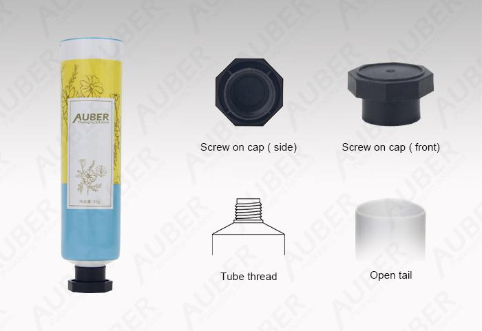 Auber D30mm Customized Aluminum Laminated Toothpaste Tubes with Octagonal Cap