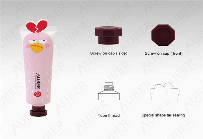 D30mm Angry Bird Cosmetic Tubes Packaging with Octagonal Cap