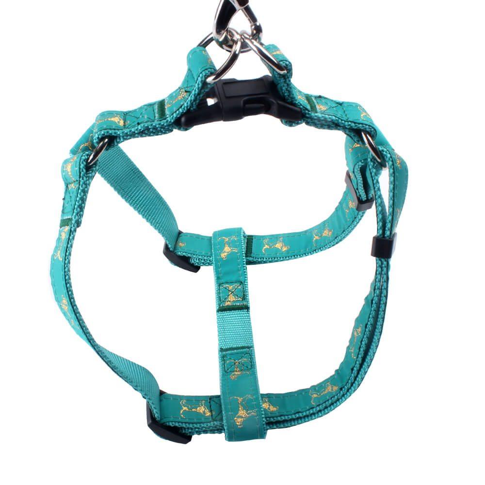 Dog harness jacquard: Factory wholesale nylon ribbon custom logo online