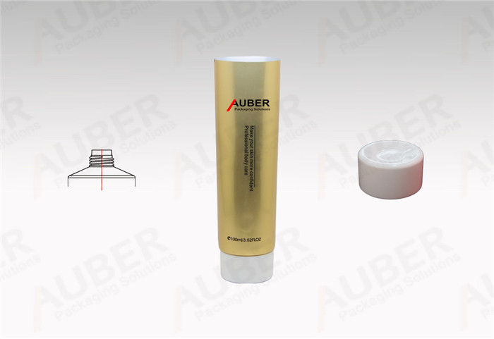 Gold Metal Laminated Tube in Dia 40mm with Screw On Cap for Personal Care Product