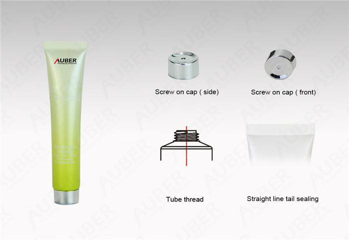 Gradual Color Filling Tube for Eye Gel  with Metalized Screw On Cap