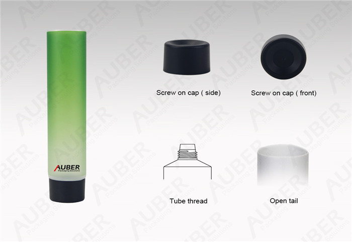 Auber D35mm Semi-Clear Hand Sanitizer Customized Packaging with Screw On Cap