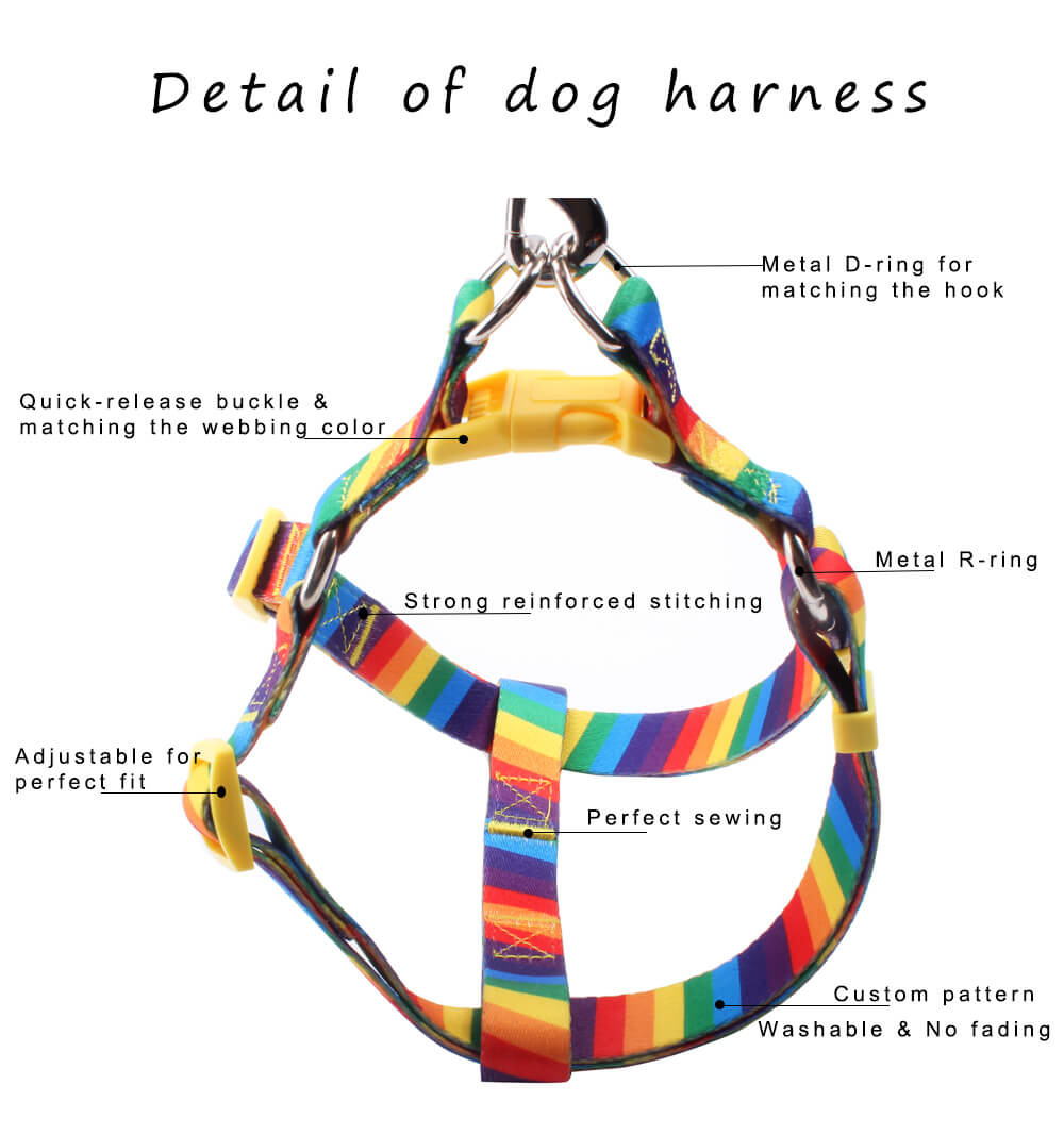 heat transfer printed pet harness