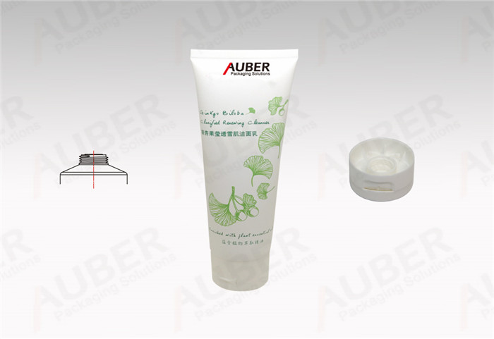 Natural Plastic Round Tube in D40mm with Flip Top Cap for Facial Cleanser