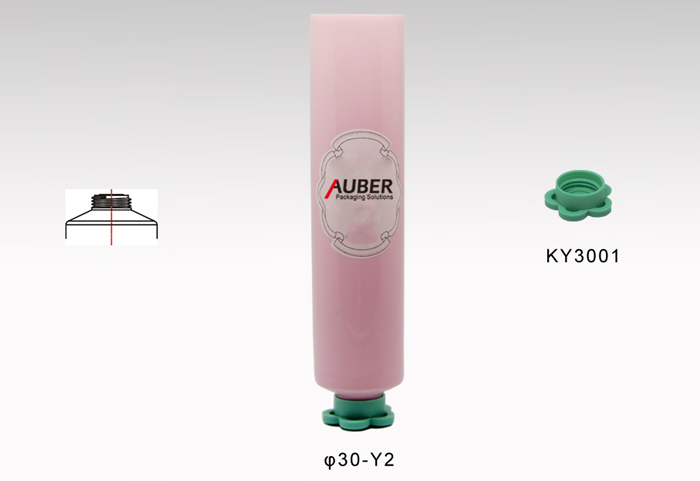 Round Pink Cosmetic Tube For Skincare Essence Packaging