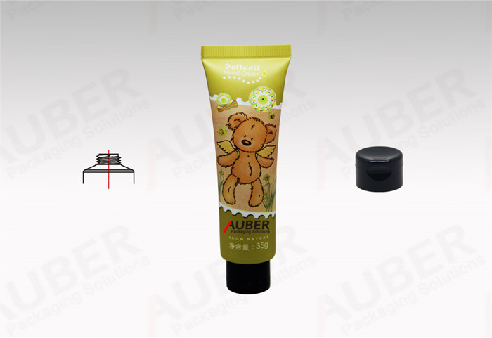 Cosmetics Tubes Manufacturers Dia.25mm Lovely Plastic Tube with Black Flip Top Cap for Baby Care Product