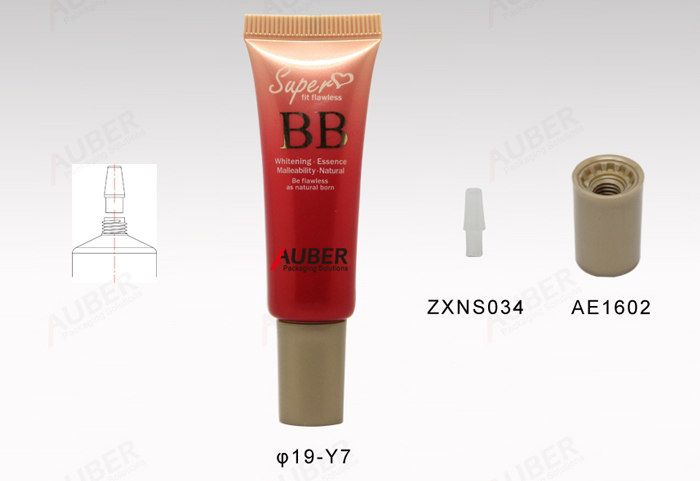 0.8oz BB Cream Squeezable Tube Packaging with screw cap