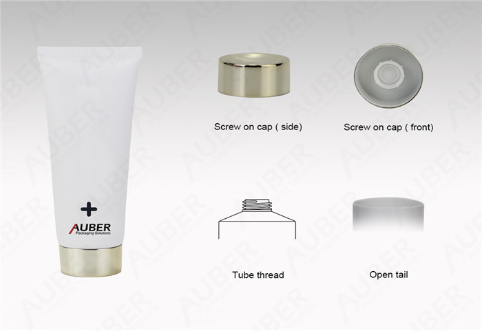 Auber D40mm White Plastic Squeeze Tube For Hand Sanitizer With Metalized Screw on Cap