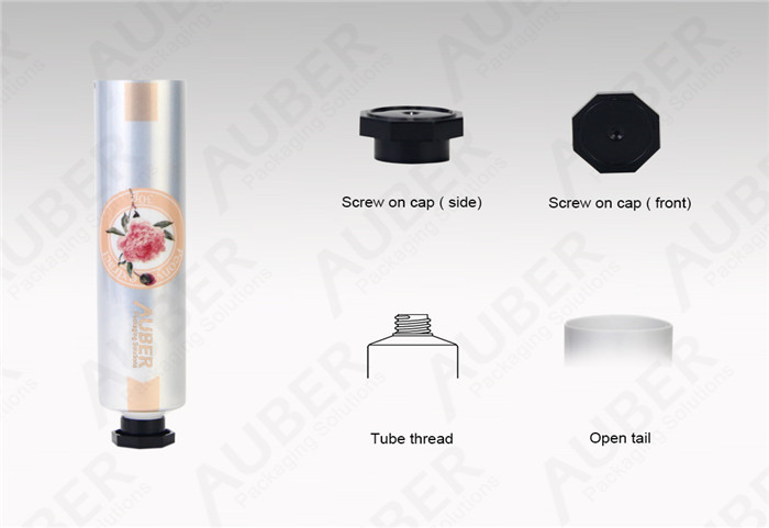 D25mm Flower Hand Cream Aluminum Laminated Squeeze Tubes With Octagonal Cap